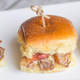 Grilled Bacon & Ribeye Steak Slider