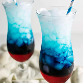 Red, White, and Blue Vodka Lemonade Slush