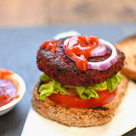 beetroot, chickpea and bean burgers