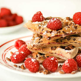 Chocolate Crunch Raspberry Waffles