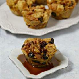 Bacon Bourbon Bread Pudding Muffins