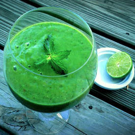 Spinach Mojito Smoothie Recipe