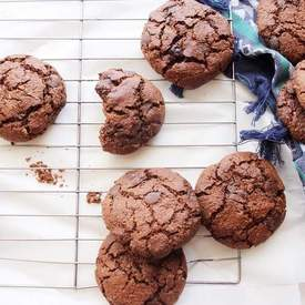 Double Chocolate Chunk Cookies