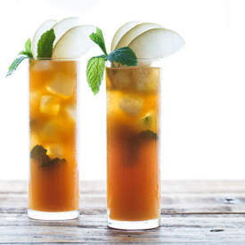 Sparkling Asian Pear & Mint Iced Tea