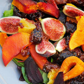 Warm Autumn Salad With A Fig Twist.