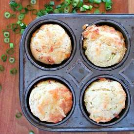 Bacon Scallion Cheddar Corn Muffin