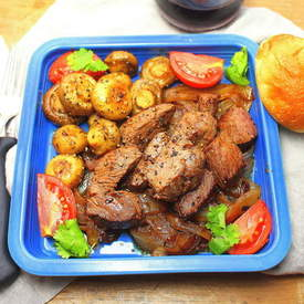 Sauteed Sirloin Tips with Mushrooms