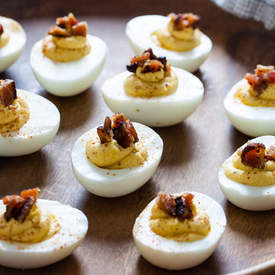 Butternut Squash & Bacon Deviled Eggs