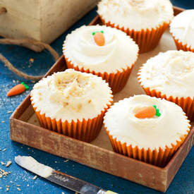Carrot, Coconut & Spelt Cupcakes