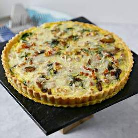 Smoky Pancetta Quiche