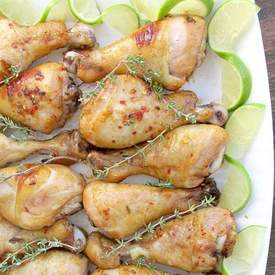 Baked Maple Lime Drumsticks