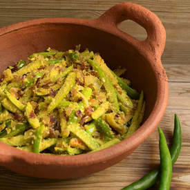 Goan Tendli (Ivy Gourd) Vegetable with Coconut