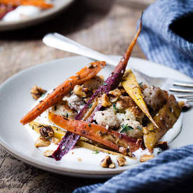 Za'atar Roasted Carrots & Cauliflower