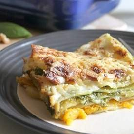 Cheesy roasted squash lasagne