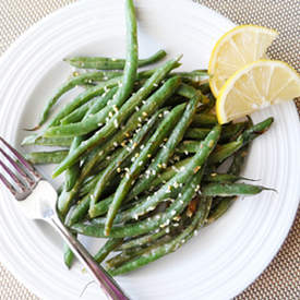 Lemon Miso Green Beans