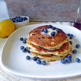 Lemon Blueberry Buttermilk Pancakes