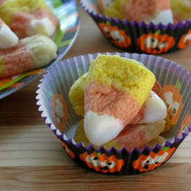 Candy Corn Sugar Cookies