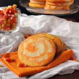 Candy Corn Swirl Sugar Cookies