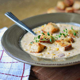 Corn Chowder with Smokey Bacon