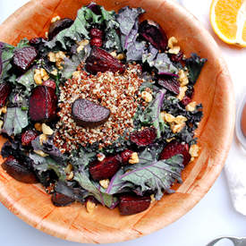 Roasted Beet & Kale Salad