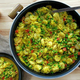 Couscous Paella with Shrimp