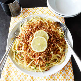 Pasta with Buttered Bread Crumbs