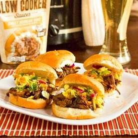 Sweet Korean BBQ Sliders