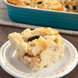 Apple, Pear, and Cranberry Biscuit Pudding