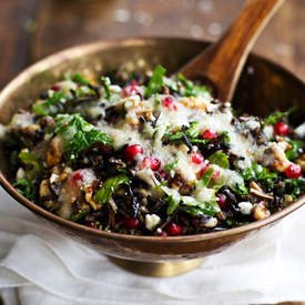 Pomegranate, Kale and Wild Rice Salad