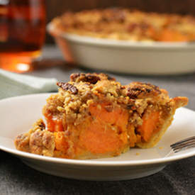 Chunky Bourbon Sweet Potato Pie
