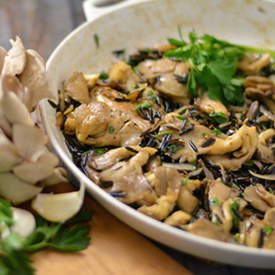 Wild Rice with Oyster Mushrooms