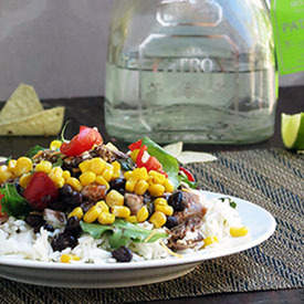 Healthier Burrito Bowl with Crockpot Taco Meat
